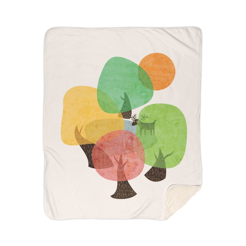 Abstract Woods Home Sherpa Blanket Blanket by agrimony // Aaron Thong