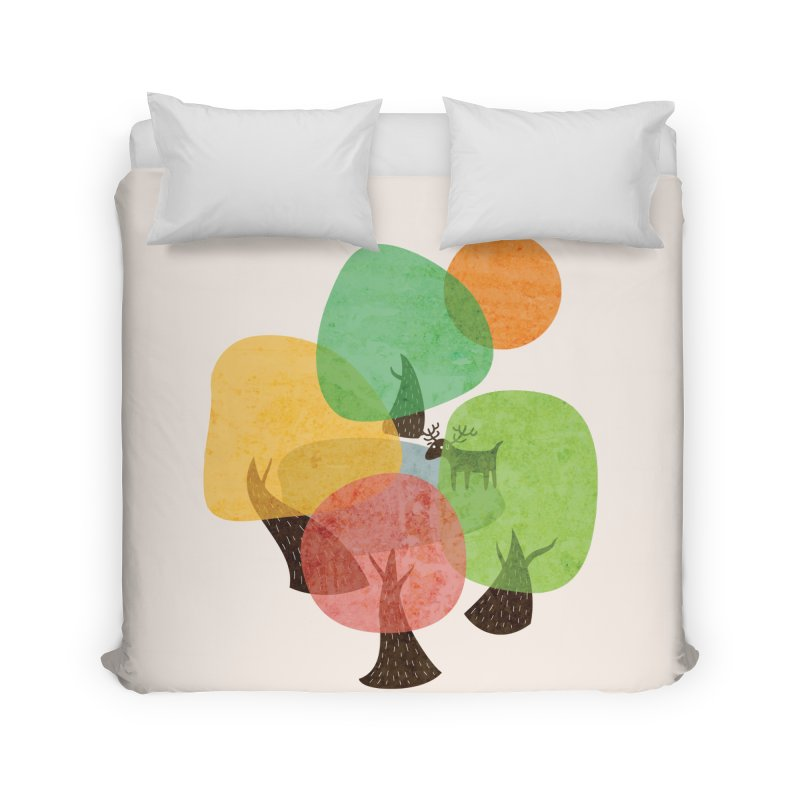 Abstract Woods Home Duvet by agrimony // Aaron Thong