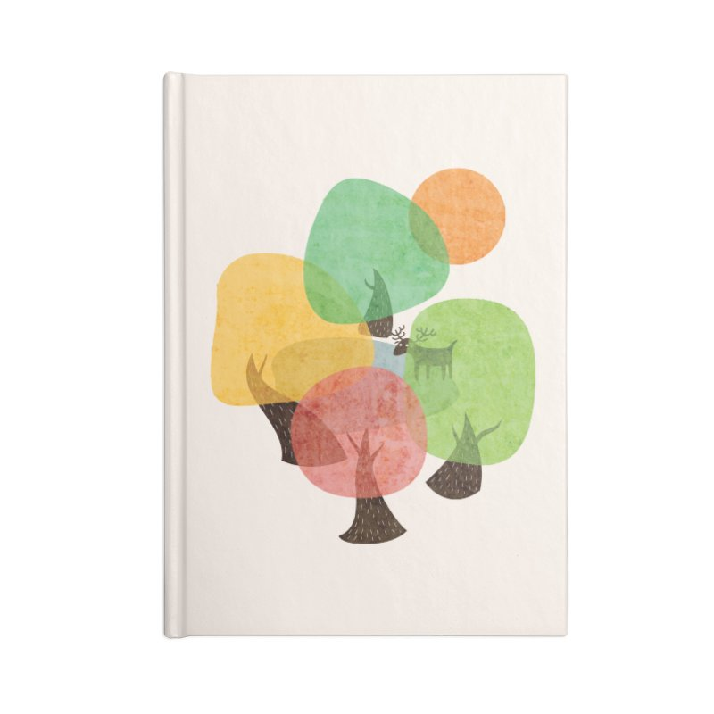 Abstract Woods Accessories Lined Journal Notebook by agrimony // Aaron Thong