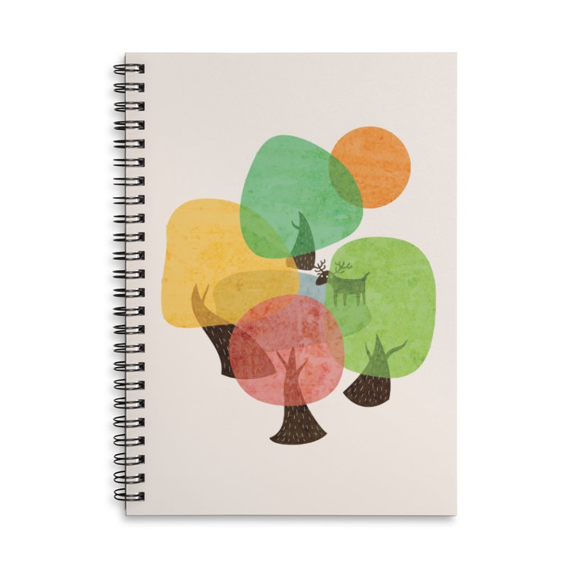 Abstract Woods Accessories Lined Spiral Notebook by agrimony // Aaron Thong