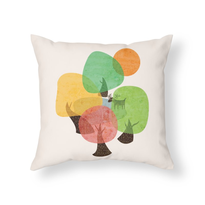 Abstract Woods Home Throw Pillow by agrimony // Aaron Thong