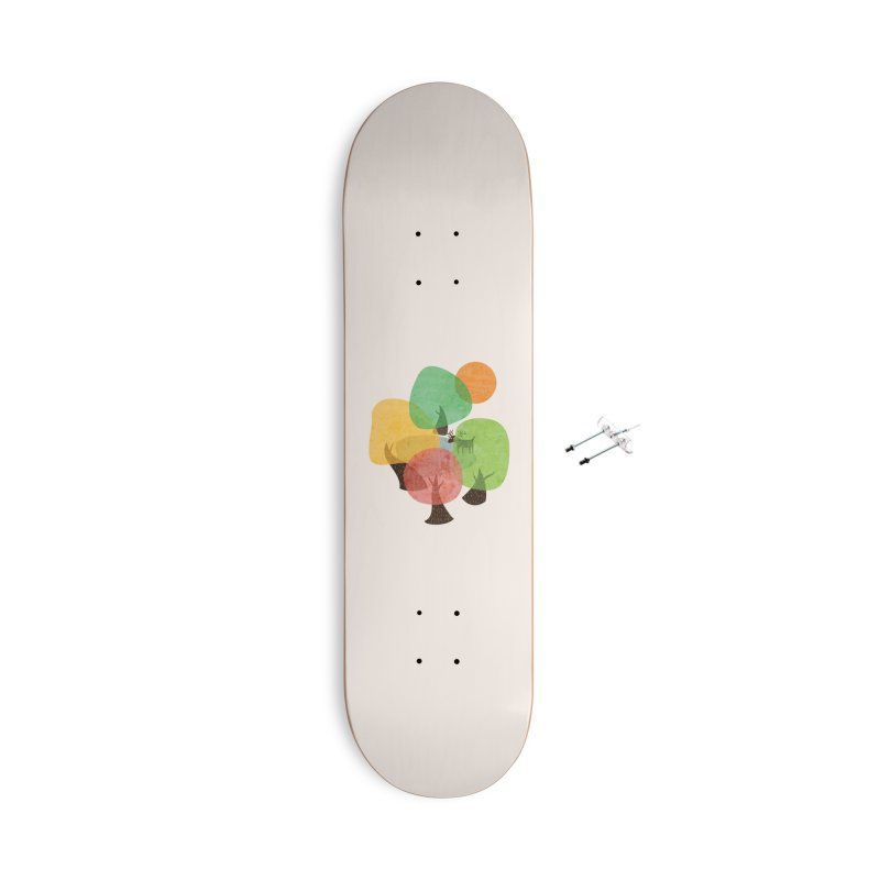 Abstract Woods Accessories With Hanging Hardware Skateboard by agrimony // Aaron Thong