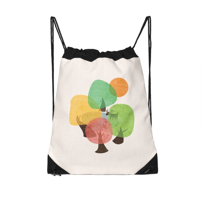 Abstract Woods Accessories Drawstring Bag Bag by agrimony // Aaron Thong