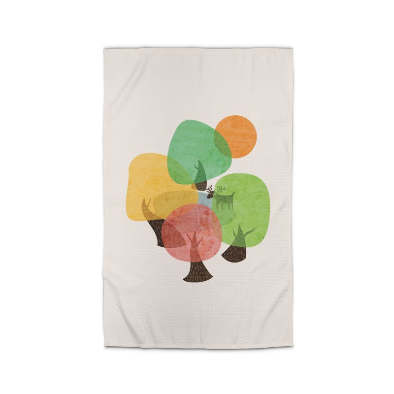 Abstract Woods Home Rug by agrimony // Aaron Thong