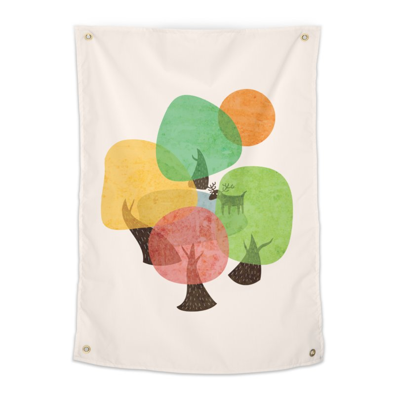 Abstract Woods Home Tapestry by agrimony // Aaron Thong