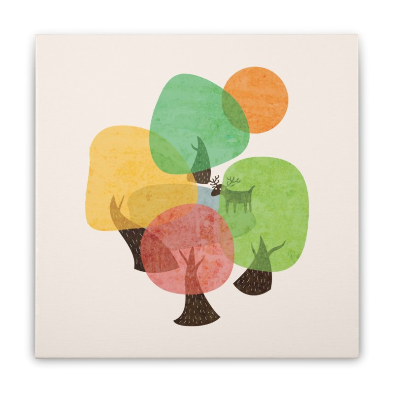 Abstract Woods Home Stretched Canvas by agrimony // Aaron Thong