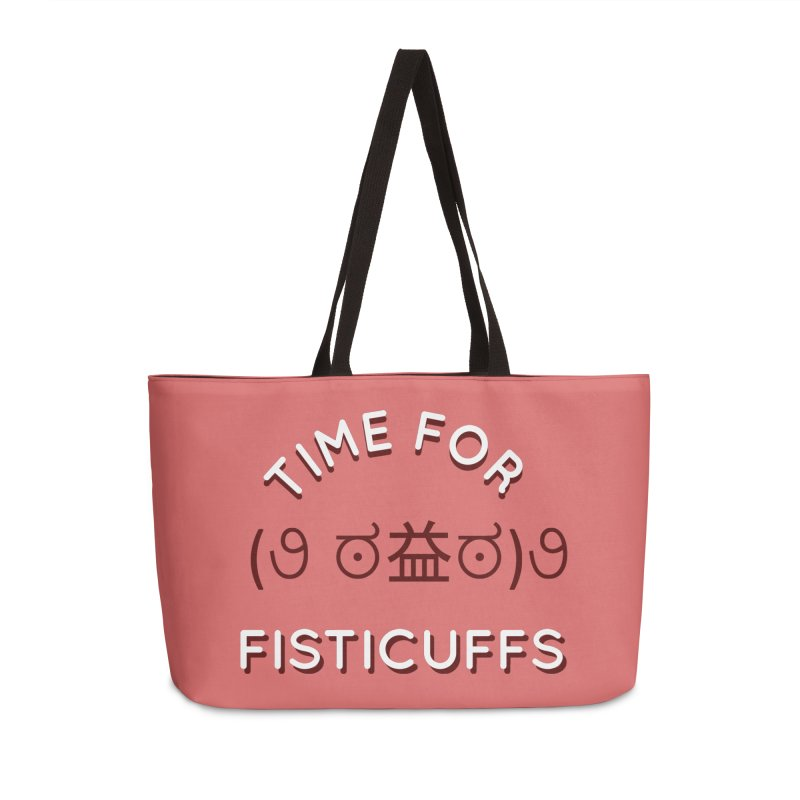 Time For Fisticuffs! Accessories Weekender Bag Bag by agrimony // Aaron Thong