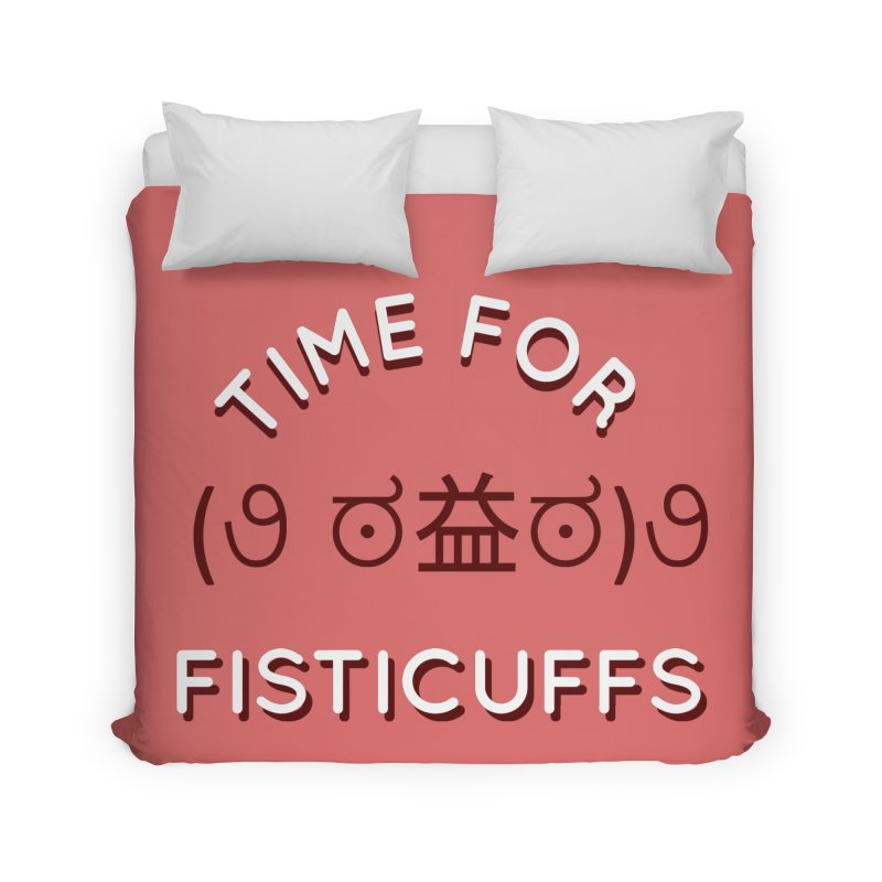 Time For Fisticuffs! Home Duvet by agrimony // Aaron Thong