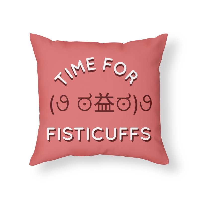 Time For Fisticuffs! Home Throw Pillow by agrimony // Aaron Thong