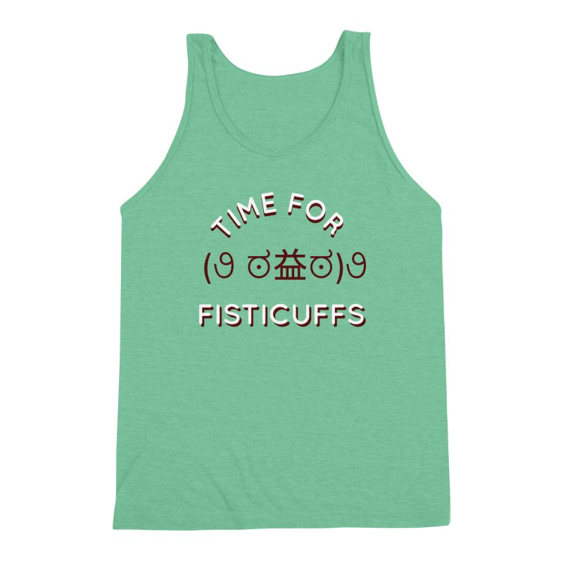 Time For Fisticuffs! Men's Triblend Tank by agrimony // Aaron Thong