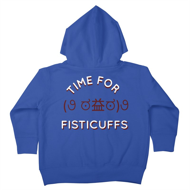 Time For Fisticuffs! Kids Toddler Zip-Up Hoody by agrimony // Aaron Thong