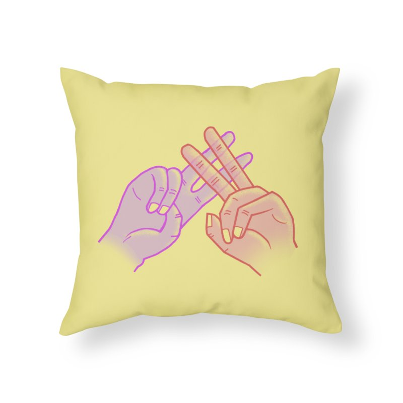 #Hashtag Home Throw Pillow by agrimony // Aaron Thong