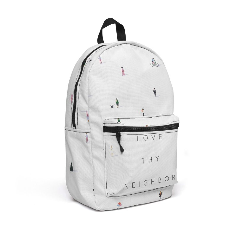 Far Apart, Near in Heart (Love Thy Neighbor) Accessories Backpack Bag by agrimony // Aaron Thong