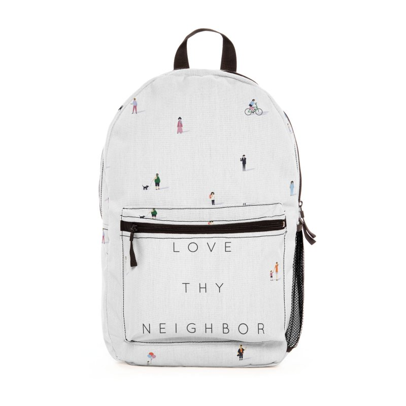 Far Apart, Near in Heart (Love Thy Neighbor) Accessories Bag by agrimony // Aaron Thong