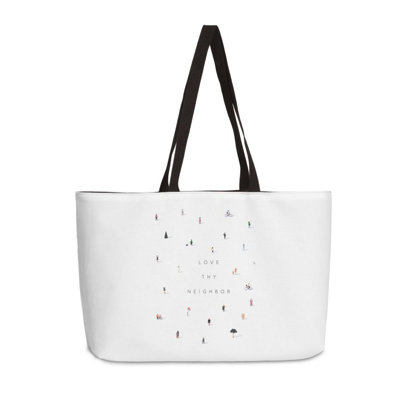 Far Apart, Near in Heart (Love Thy Neighbor) Accessories Weekender Bag Bag by agrimony // Aaron Thong