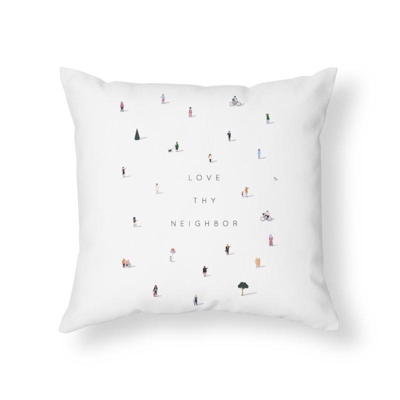 Far Apart, Near in Heart (Love Thy Neighbor) Home Throw Pillow by agrimony // Aaron Thong