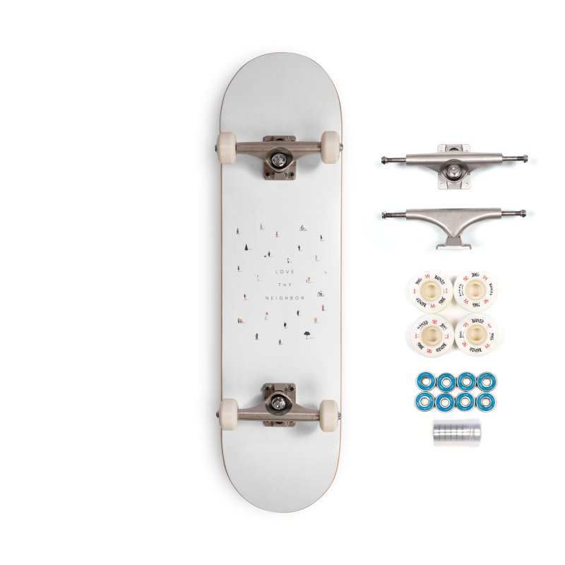Far Apart, Near in Heart (Love Thy Neighbor) Accessories Complete - Premium Skateboard by agrimony // Aaron Thong