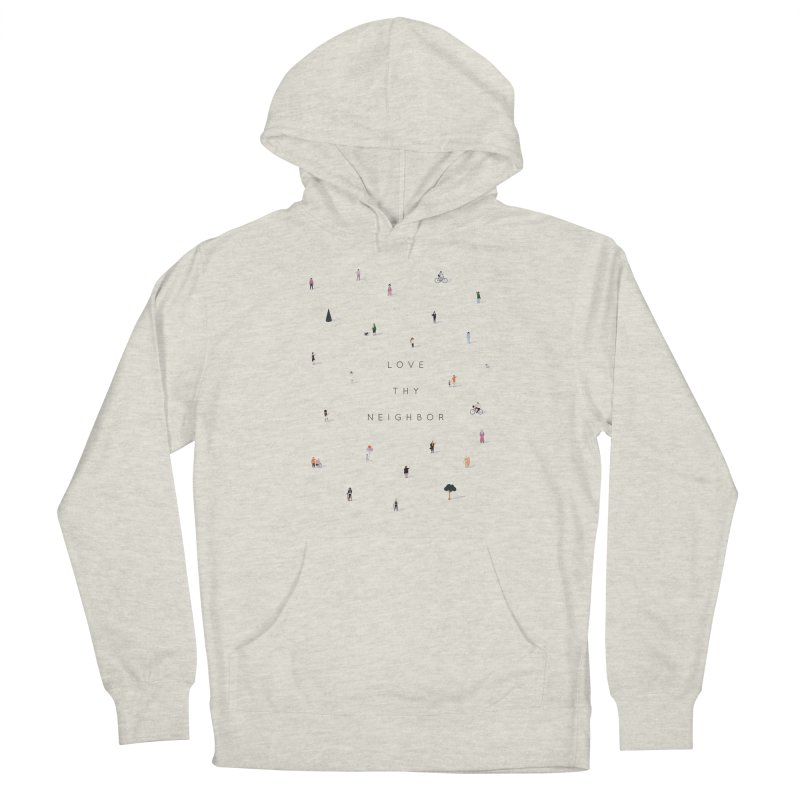 Far Apart, Near in Heart (Love Thy Neighbor) Men's French Terry Pullover Hoody by agrimony // Aaron Thong