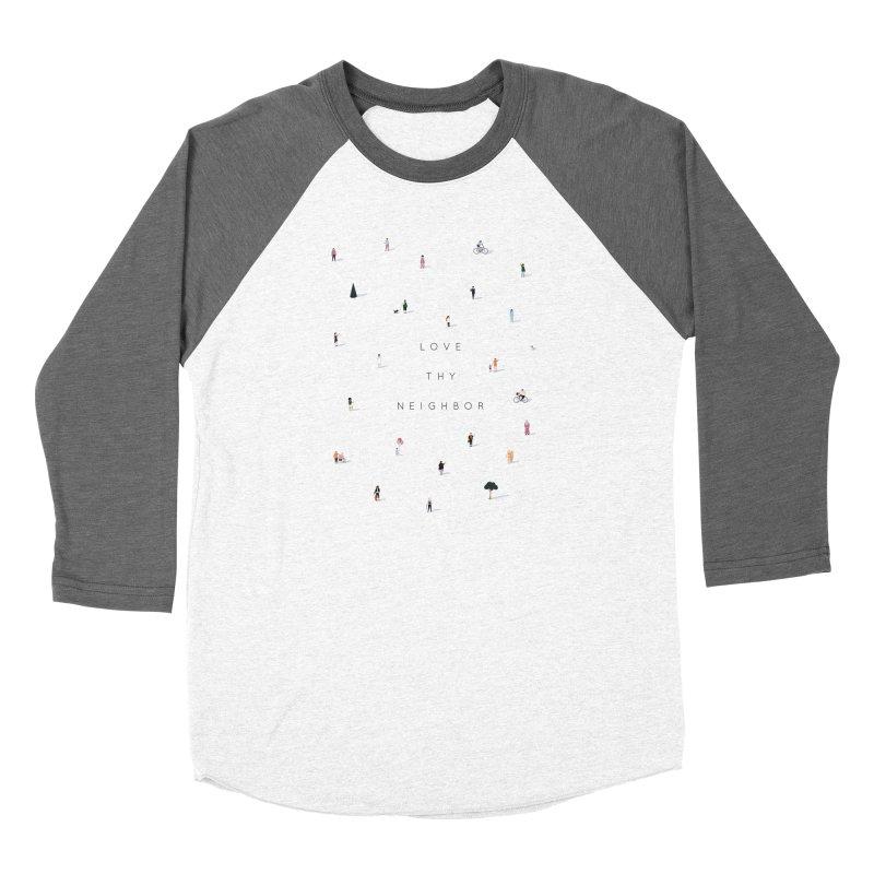 Far Apart, Near in Heart (Love Thy Neighbor) Men's Baseball Triblend Longsleeve T-Shirt by agrimony // Aaron Thong