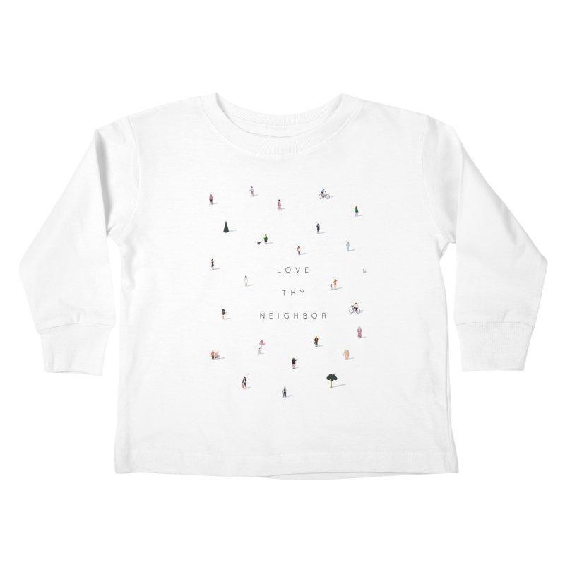 Far Apart, Near in Heart (Love Thy Neighbor) Kids Toddler Longsleeve T-Shirt by agrimony // Aaron Thong