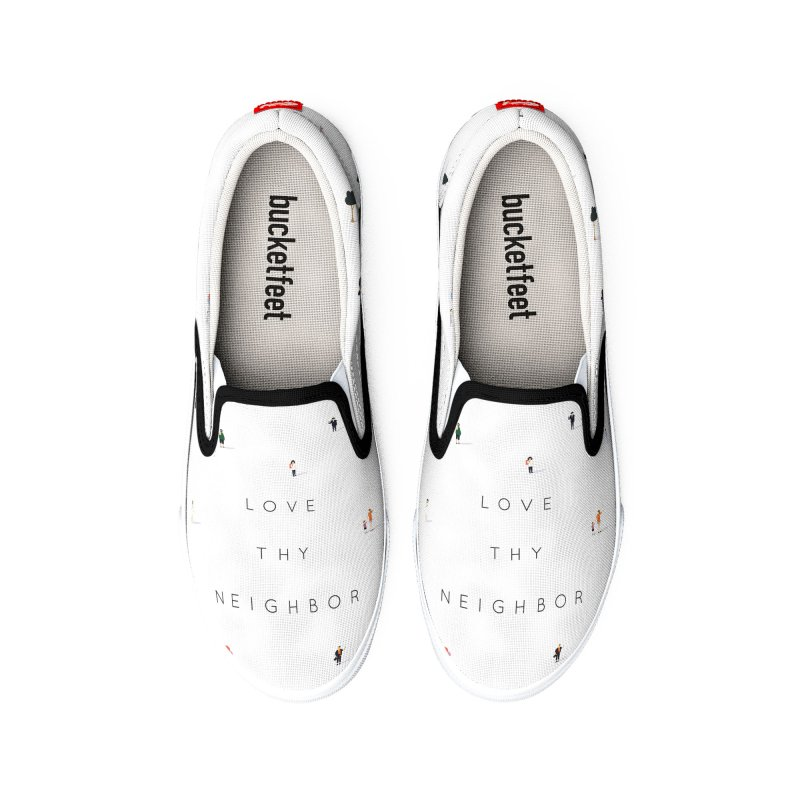 Far Apart, Near in Heart (Love Thy Neighbor) Men's Shoes by agrimony // Aaron Thong