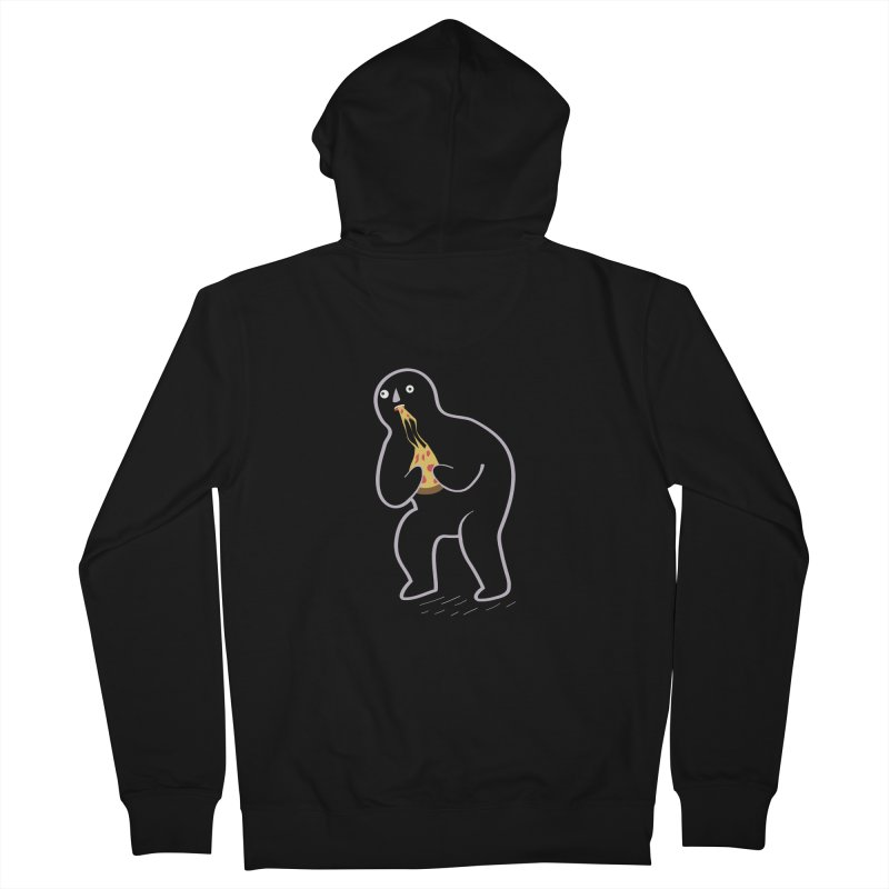 Jake Devouring His Pizza Women's Zip-Up Hoody by agrimony // Aaron Thong