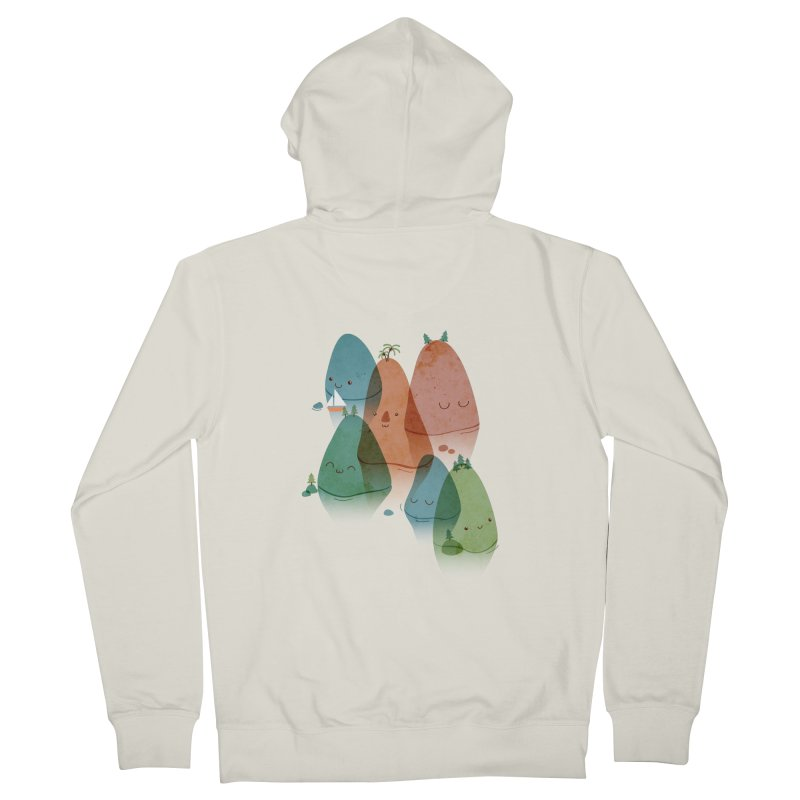 Find Your Happy Place Women's Zip-Up Hoody by agrimony // Aaron Thong