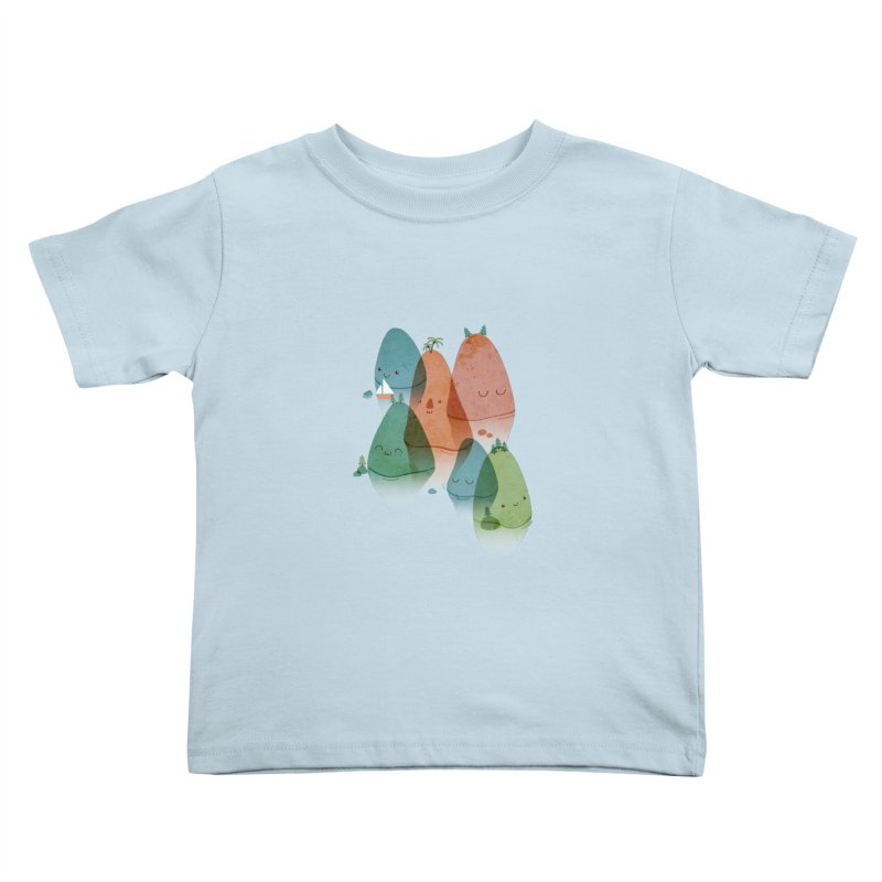 Find Your Happy Place Kids Toddler T-Shirt by agrimony // Aaron Thong