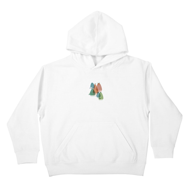 Find Your Happy Place Kids Pullover Hoody by agrimony // Aaron Thong
