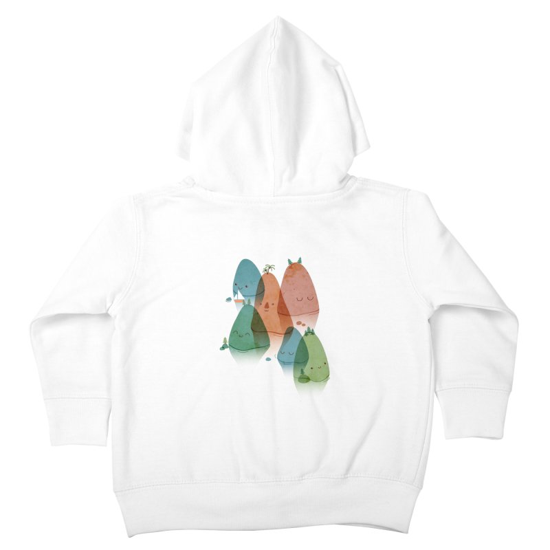 Find Your Happy Place Kids Toddler Zip-Up Hoody by agrimony // Aaron Thong