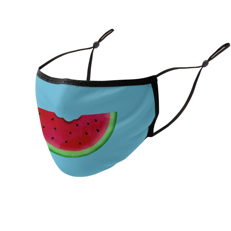 Faces With Fruit - Watermelon Accessories Face Mask by agrimony // Aaron Thong