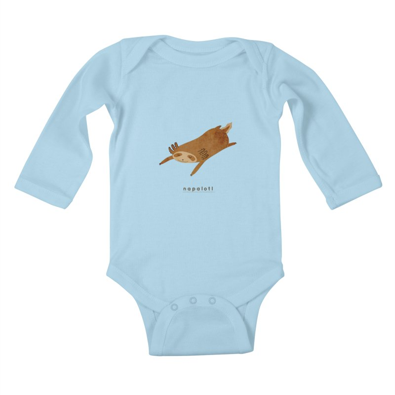 Napalotl Kids Baby Longsleeve Bodysuit by agrimony // Aaron Thong