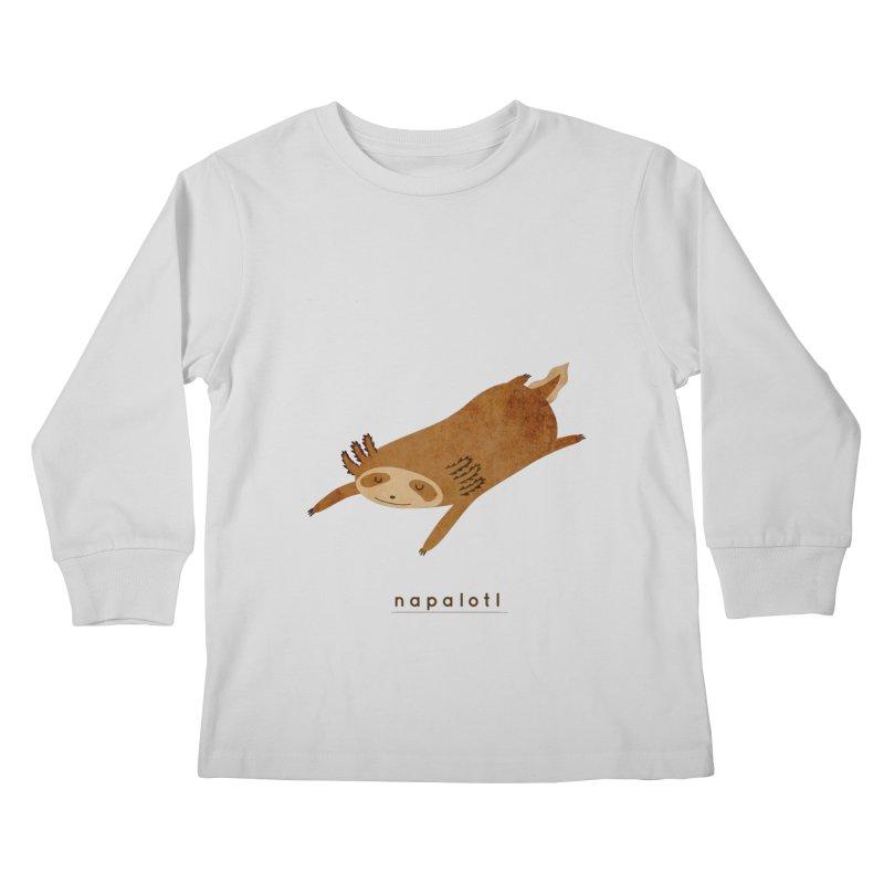 Napalotl Kids Longsleeve T-Shirt by agrimony // Aaron Thong