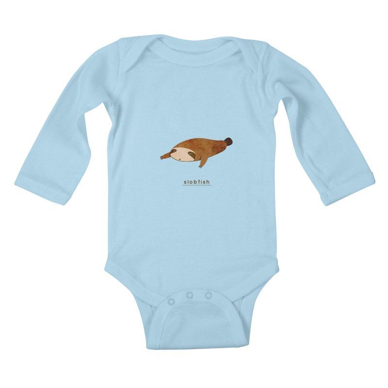 Slobfish Kids Baby Longsleeve Bodysuit by agrimony // Aaron Thong