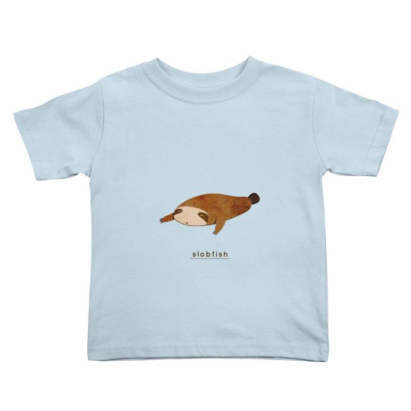 Slobfish Kids Toddler T-Shirt by agrimony // Aaron Thong