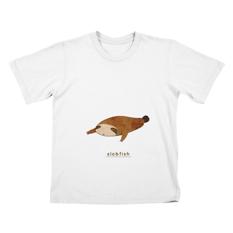Slobfish Kids T-Shirt by agrimony // Aaron Thong