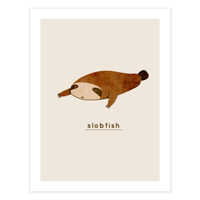 Slobfish Home Fine Art Print by agrimony // Aaron Thong
