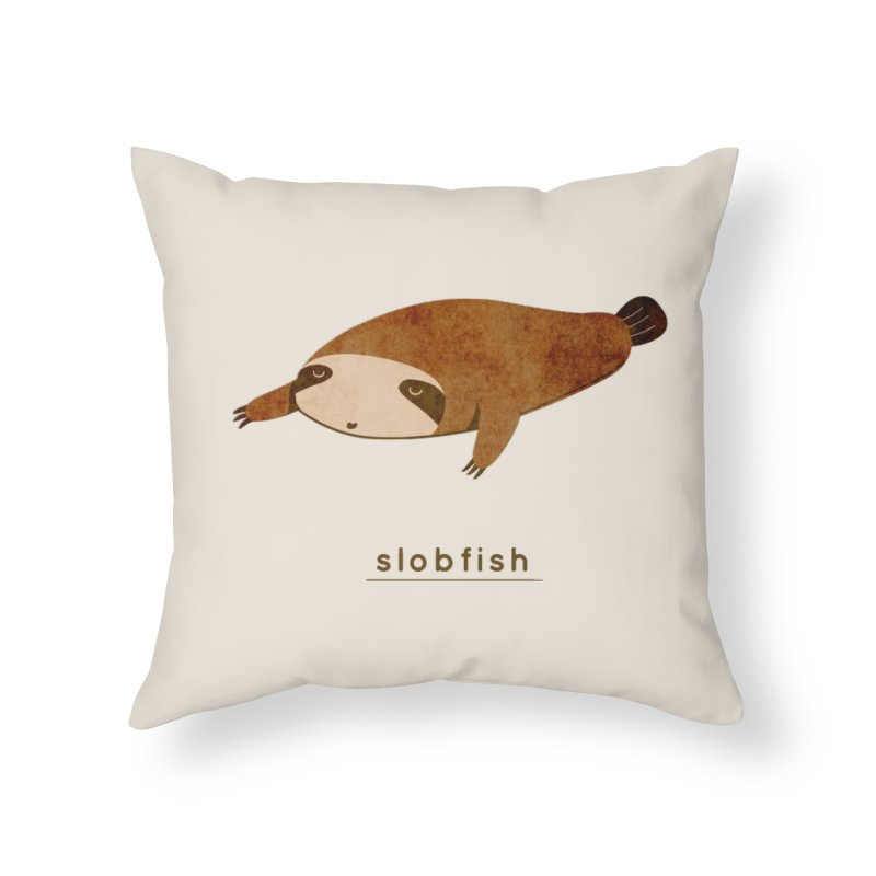 Slobfish Home Throw Pillow by agrimony // Aaron Thong