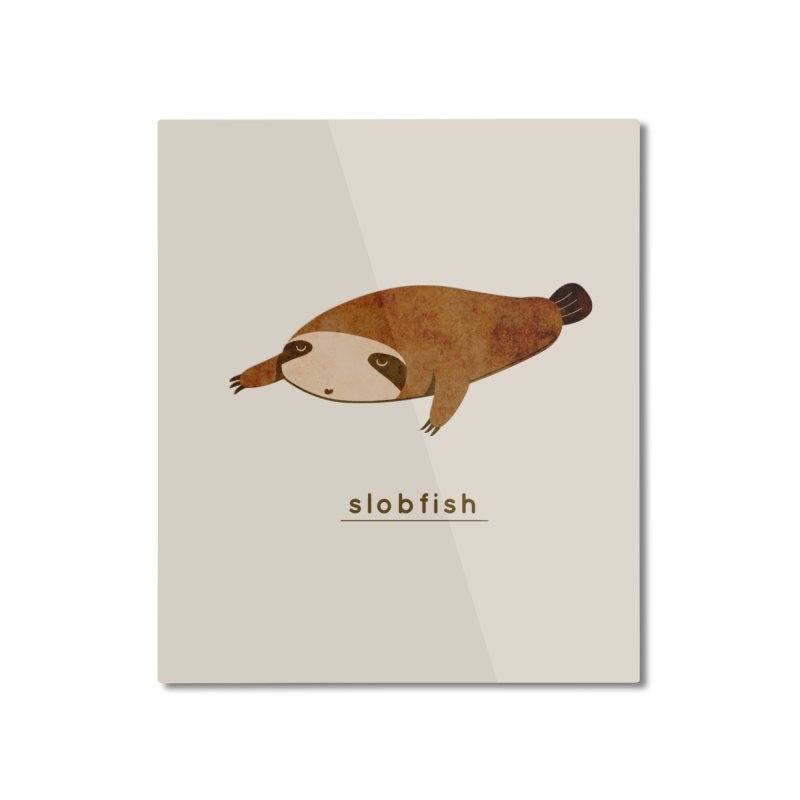 Slobfish Home Mounted Aluminum Print by agrimony // Aaron Thong