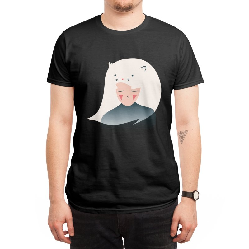 Cat in the Hairt Men's T-Shirt by agrimony // Aaron Thong