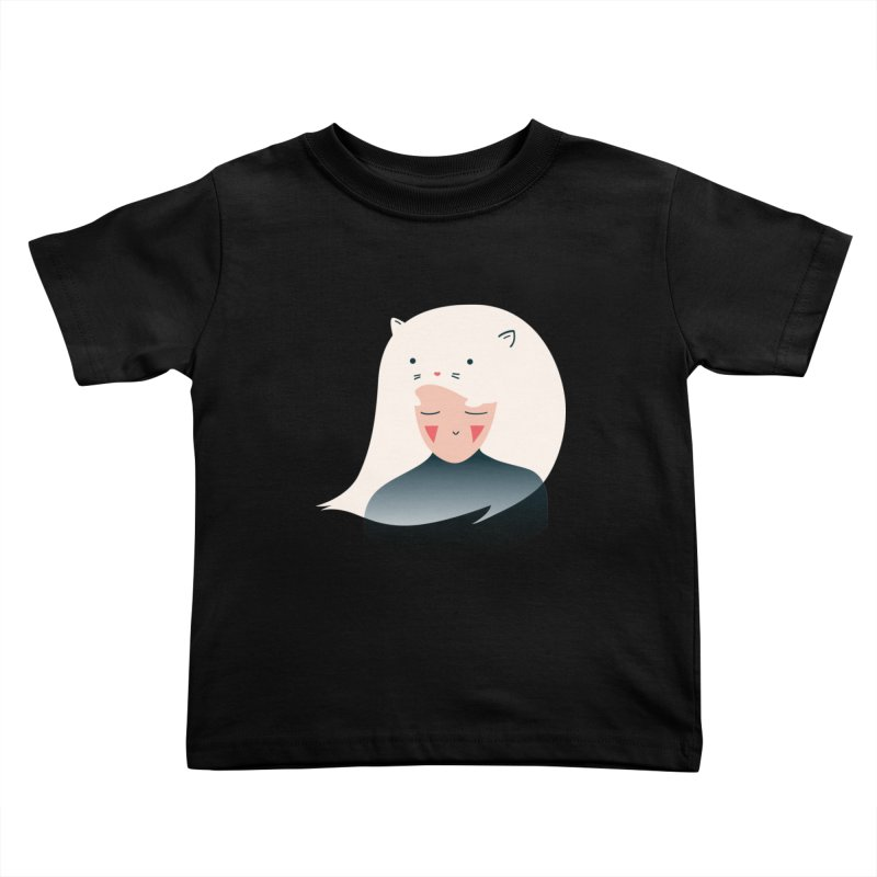 Cat in the Hairt Kids Toddler T-Shirt by agrimony // Aaron Thong