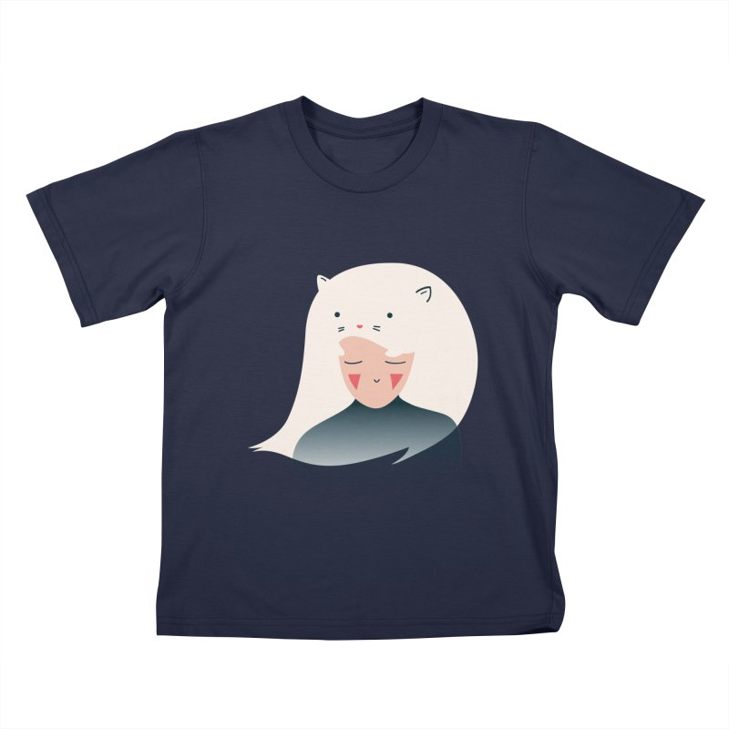 Cat in the Hairt Kids T-Shirt by agrimony // Aaron Thong