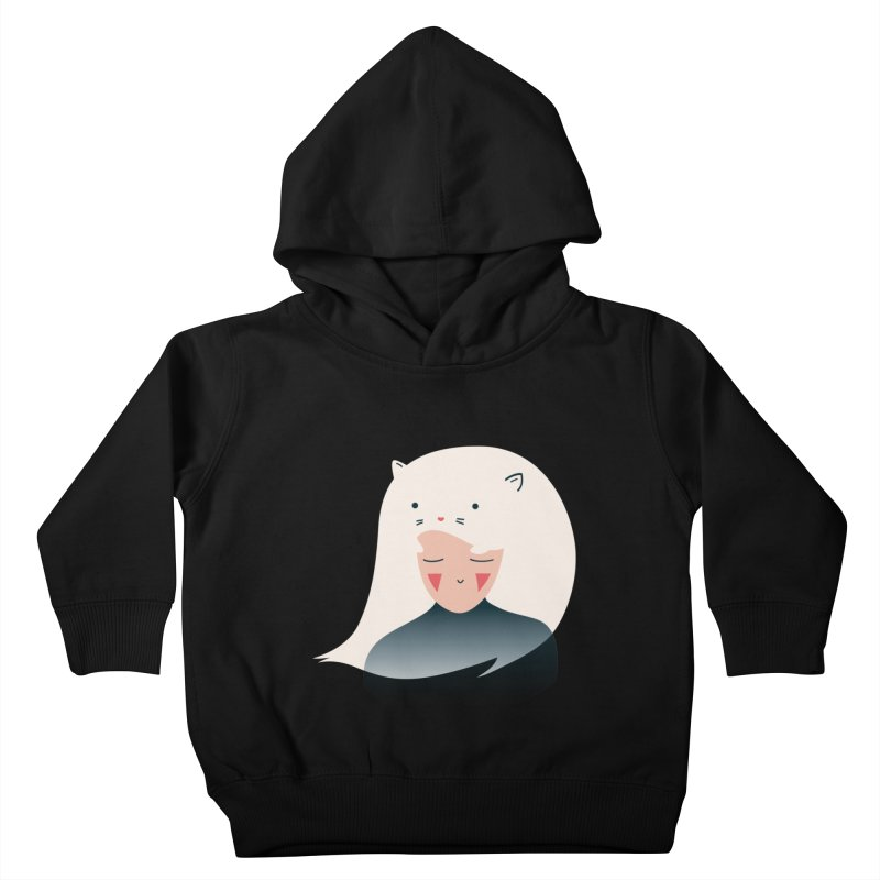 Cat in the Hairt Kids Toddler Pullover Hoody by agrimony // Aaron Thong