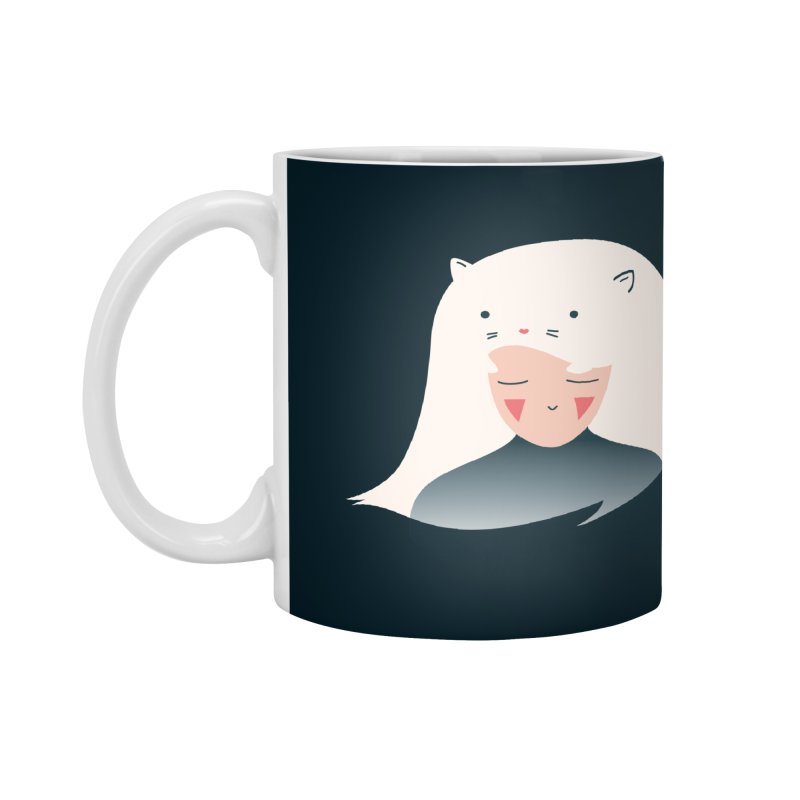 Cat in the Hairt Accessories Mug by agrimony // Aaron Thong