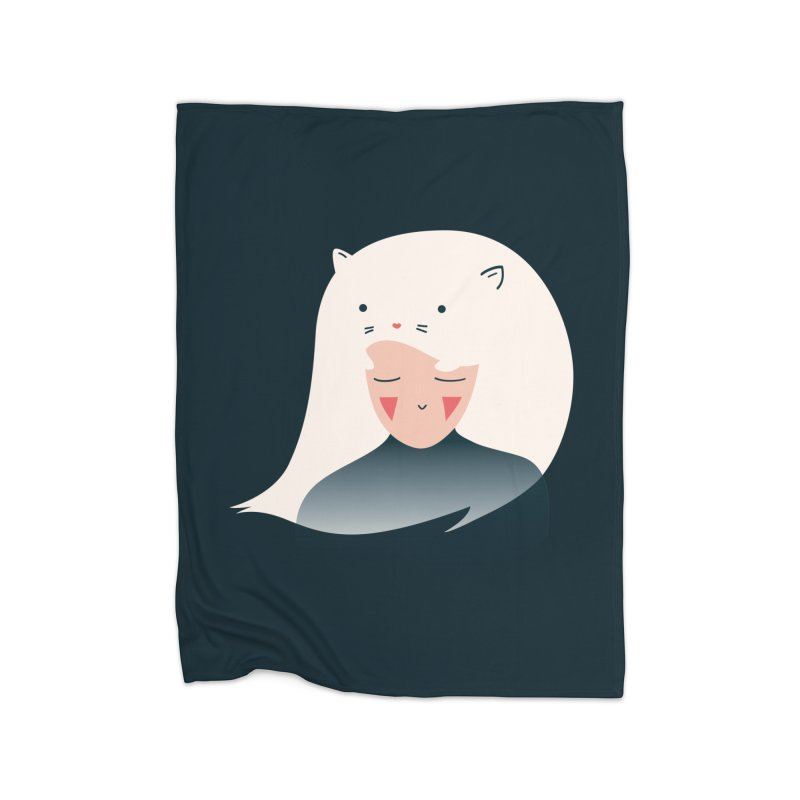 Cat in the Hairt Home Blanket by agrimony // Aaron Thong