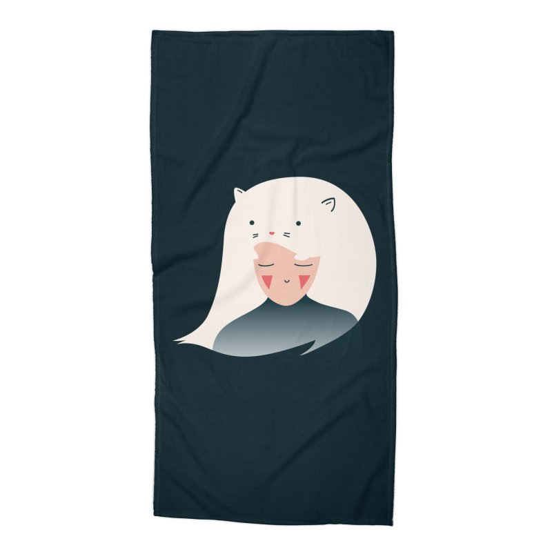 Cat in the Hairt Accessories Beach Towel by agrimony // Aaron Thong