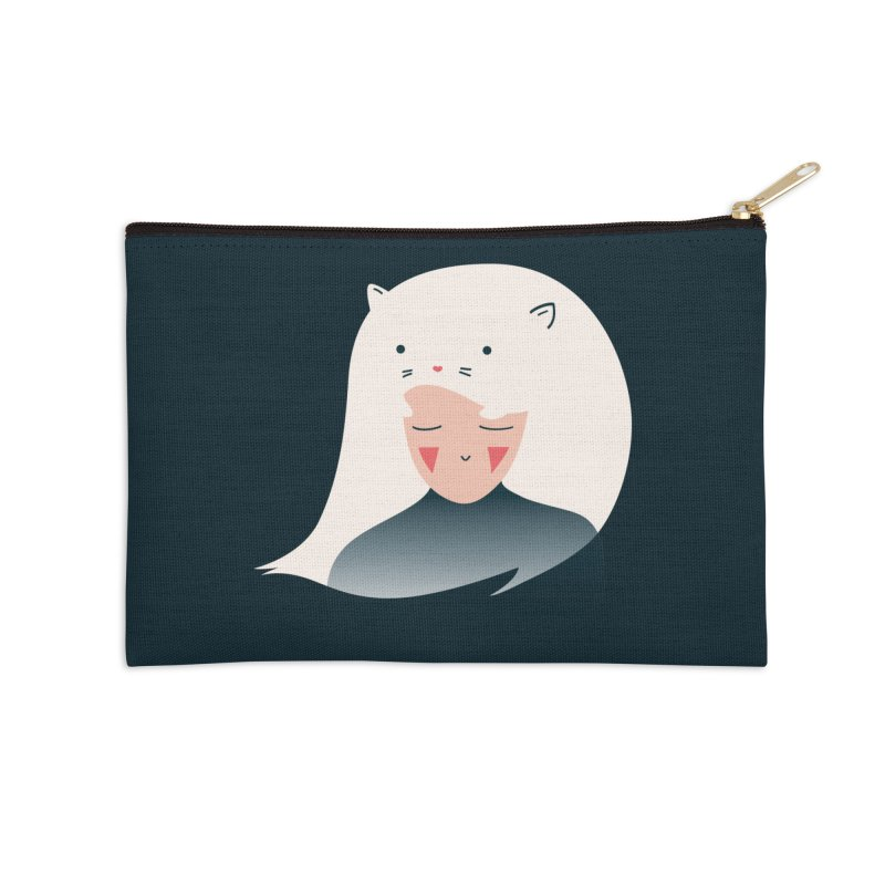 Cat in the Hairt Accessories Zip Pouch by agrimony // Aaron Thong