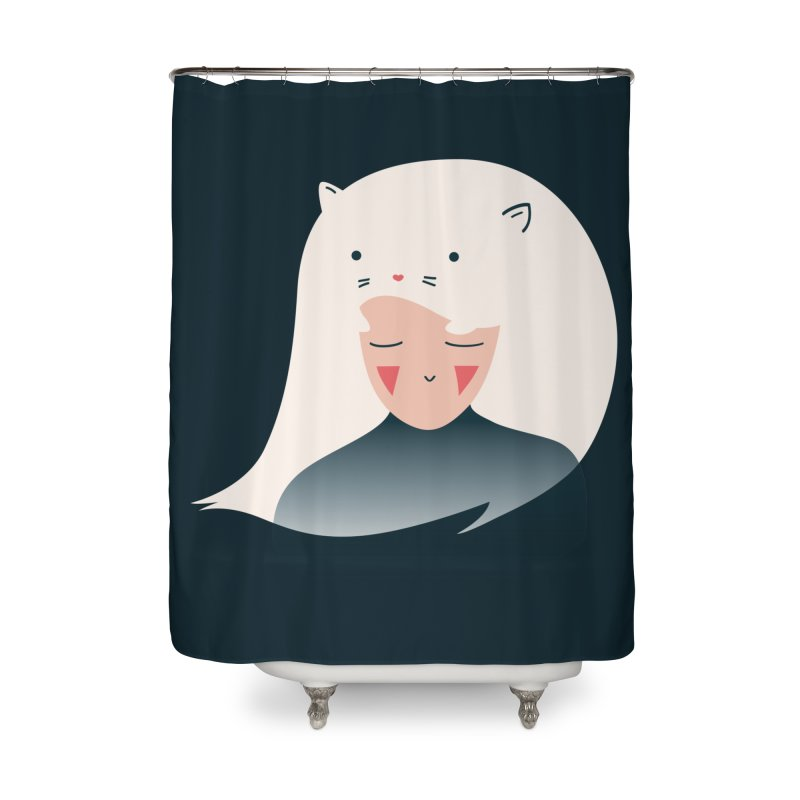 Cat in the Hairt Home Shower Curtain by agrimony // Aaron Thong