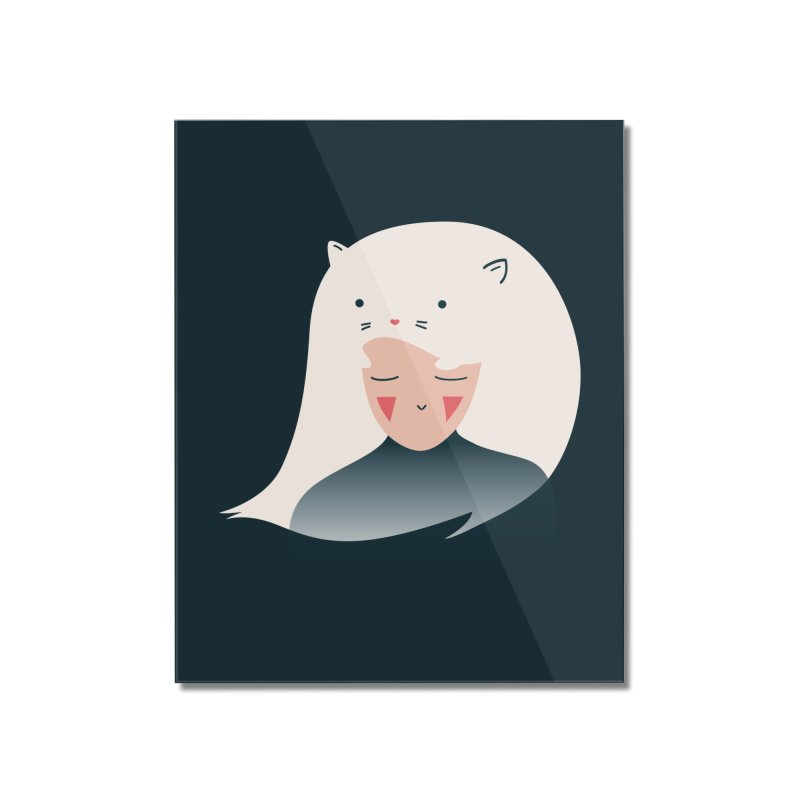 Cat in the Hairt Home Mounted Acrylic Print by agrimony // Aaron Thong