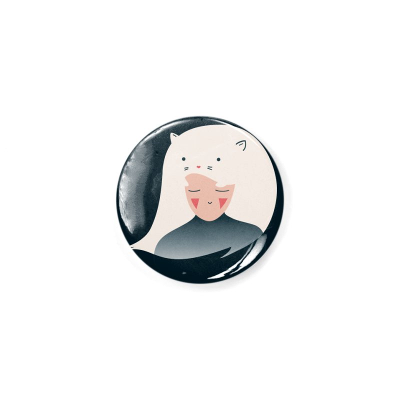 Cat in the Hairt Accessories Button by agrimony // Aaron Thong